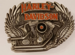 Harley Davidson Engine Solid Brass Belt Buckle. Code HD-87